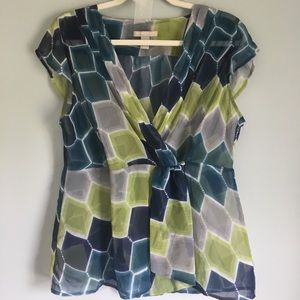 Banana republic sheer crossover top